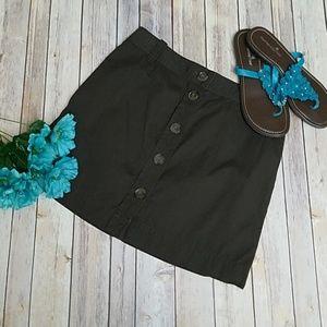 *NWT J CREW Brown button down mini skirt